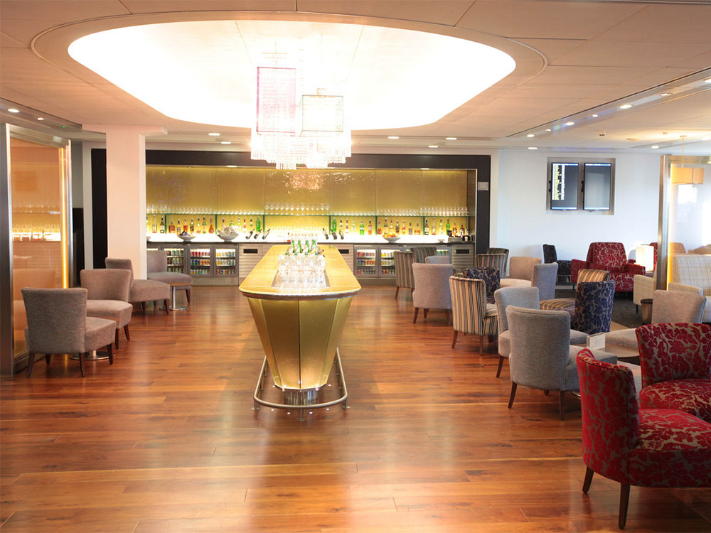 British Airways lounge at London-Heathrow Airport