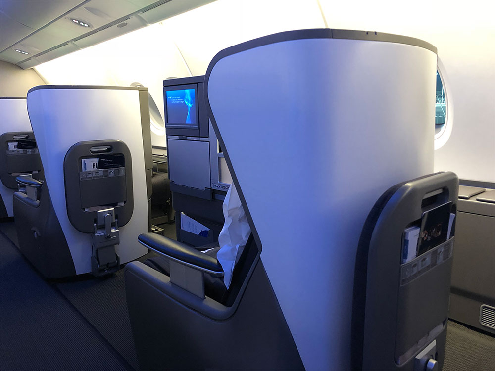 British Airways Club World seat.