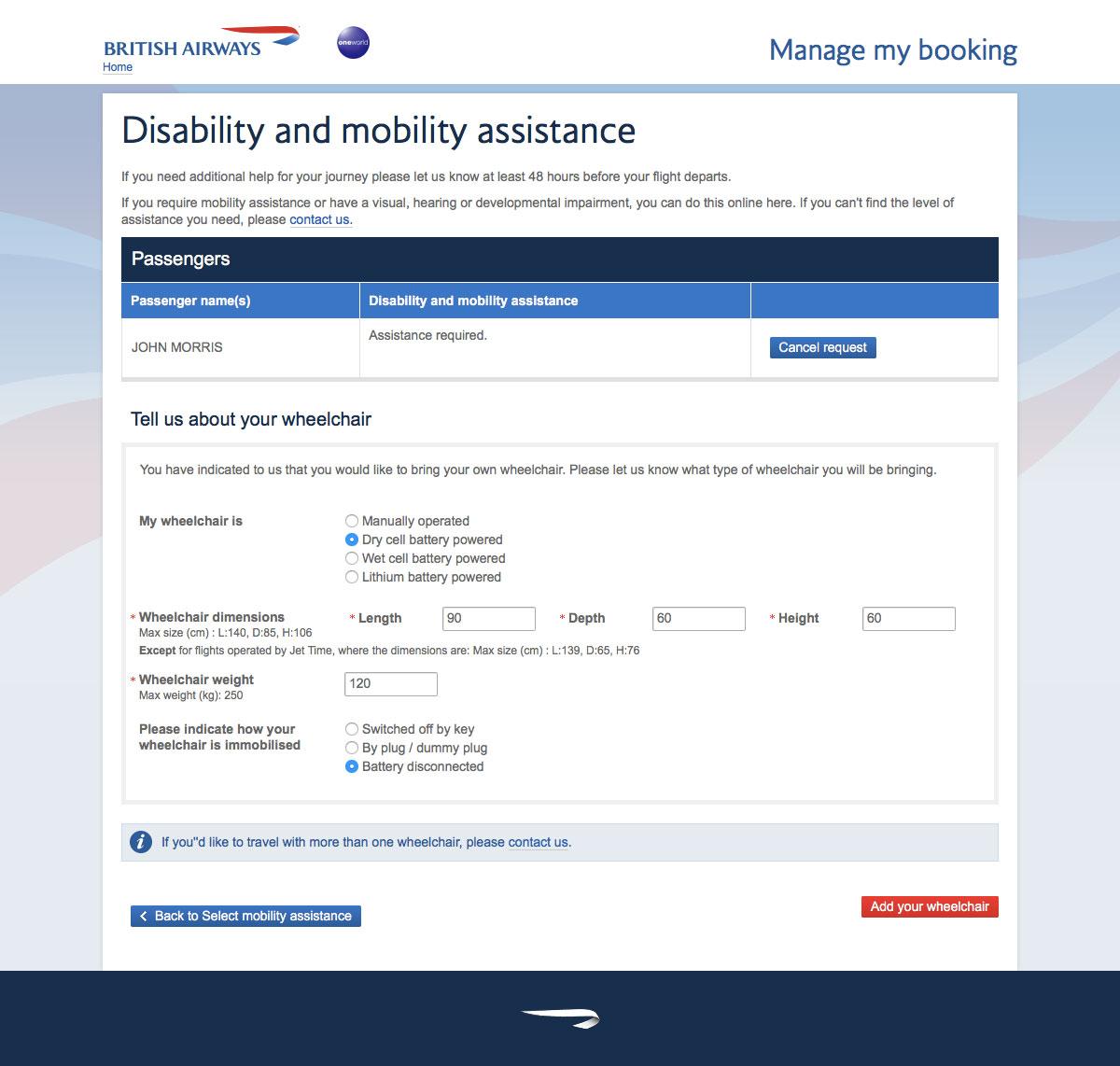 Traveling with a Wheelchair on British Airways - WheelchairTravel org