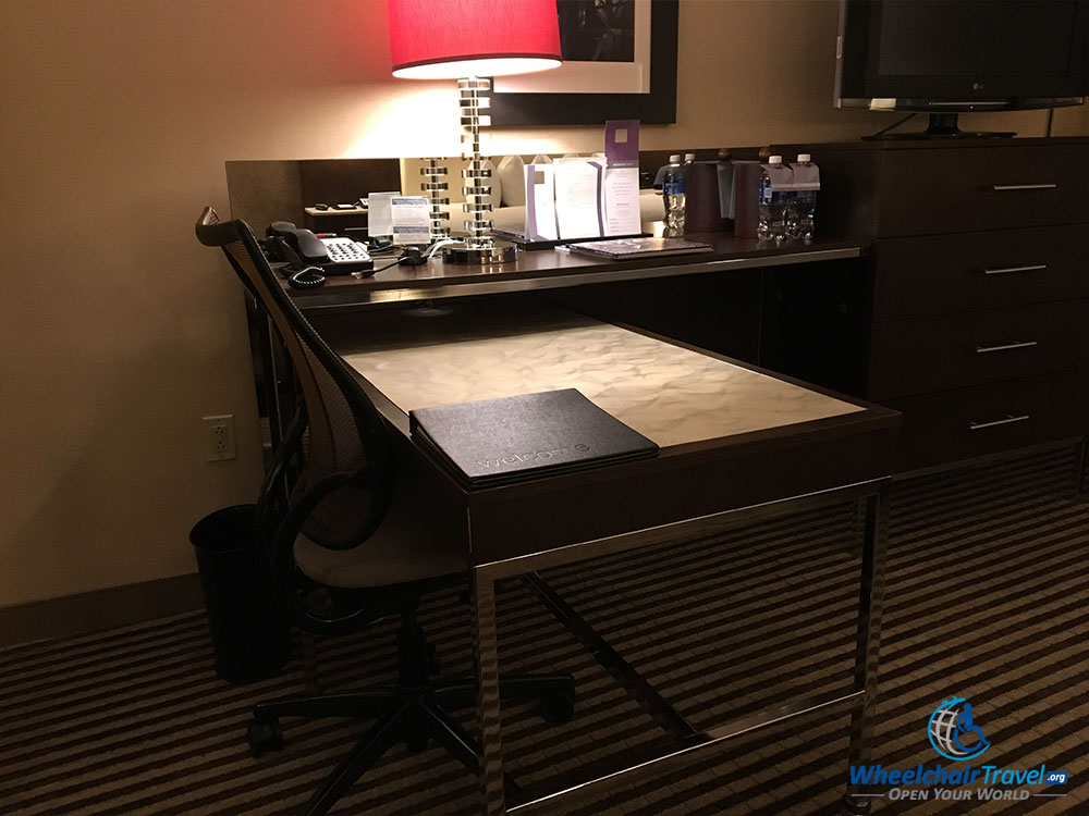Desk with office chair