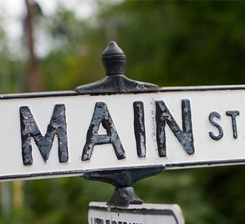 Main Street road sign