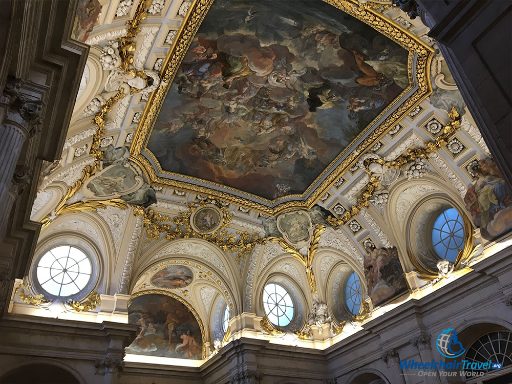 Ceiling frescoes painted by Corrado Giaquinto