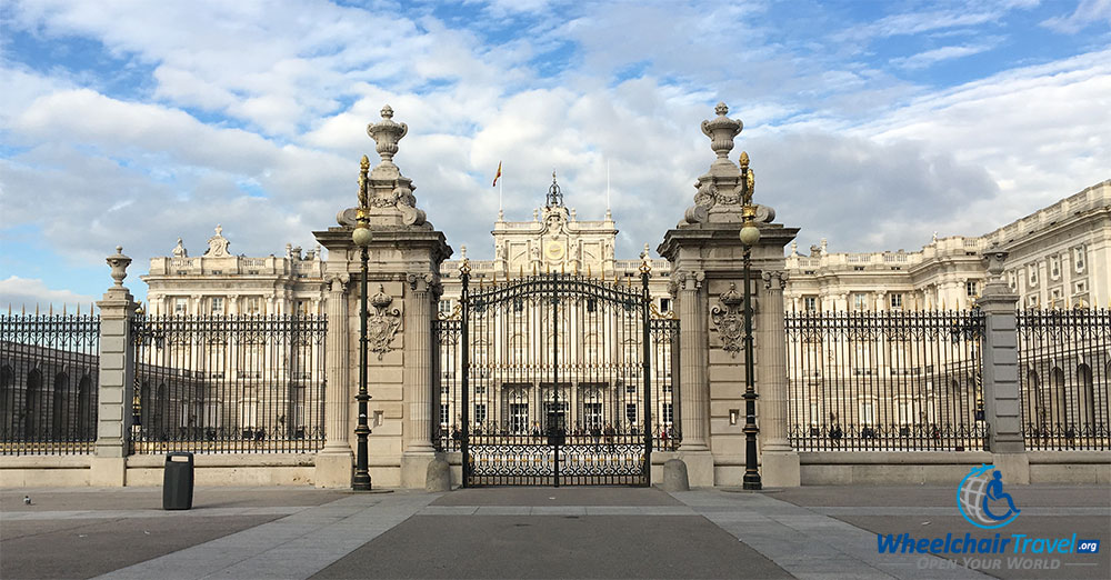 Royal Palace of Madrid as seen from outside the main gates