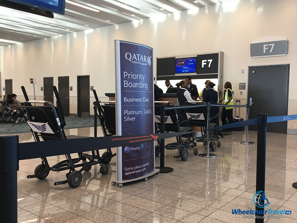 Boarding Gate For Qatar Airways Flight At Atlanta International Airport