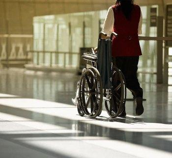 Airport wheelchair attendant