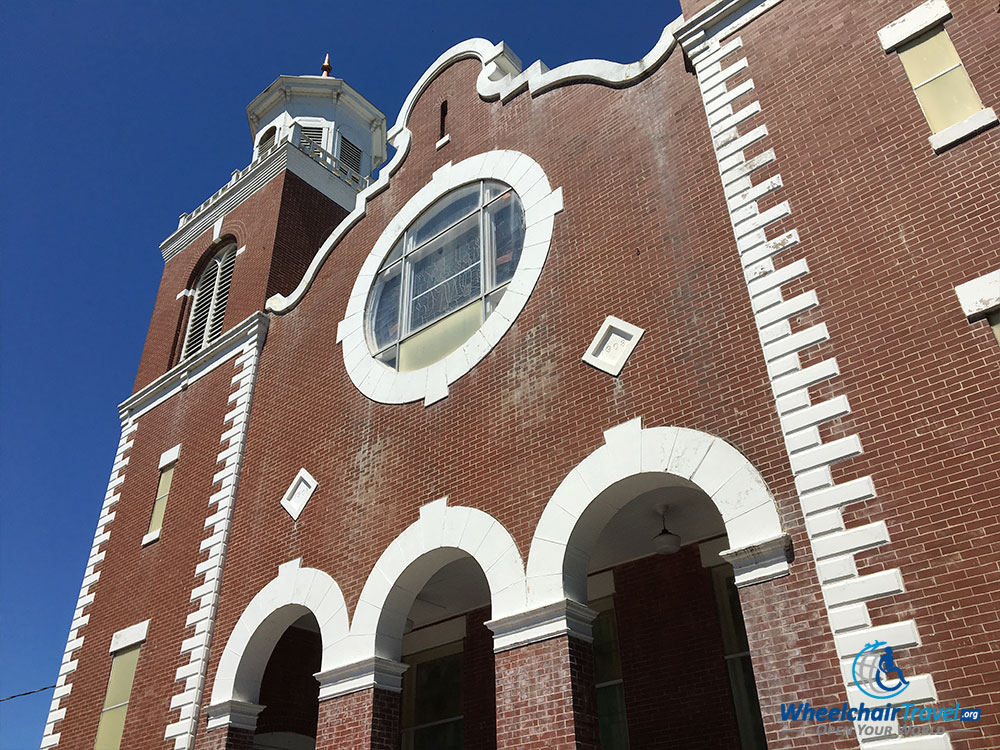 Building exterior of the Brown Chapel African Methodist Episcopal Church in Selma, Alabama