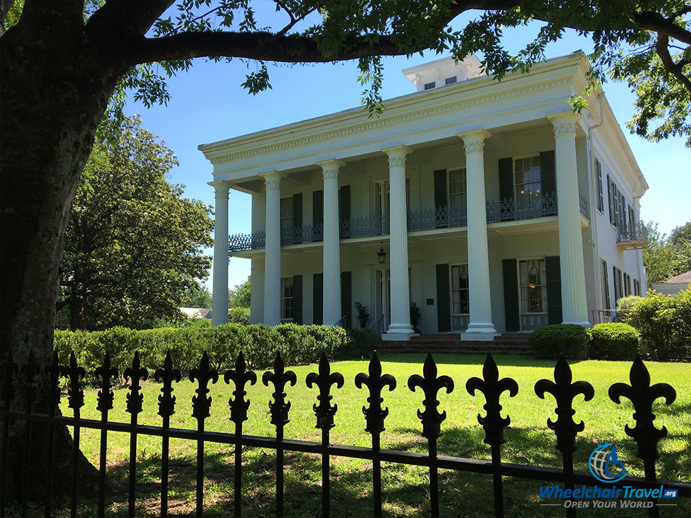 Sturdivant Hall, the largest home in wheelchair accessible Selma, Alabama