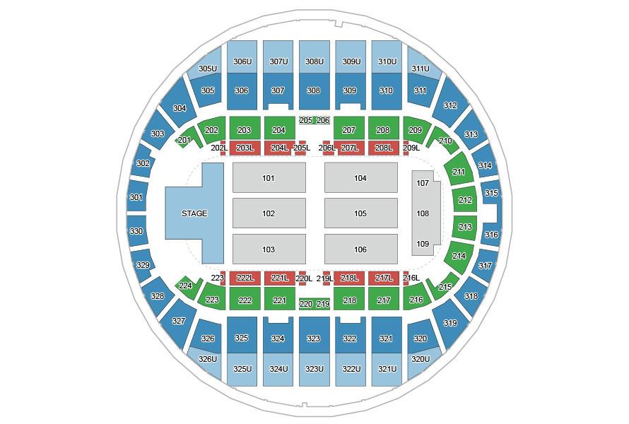 Von Braun Center Propst Arena seating chart