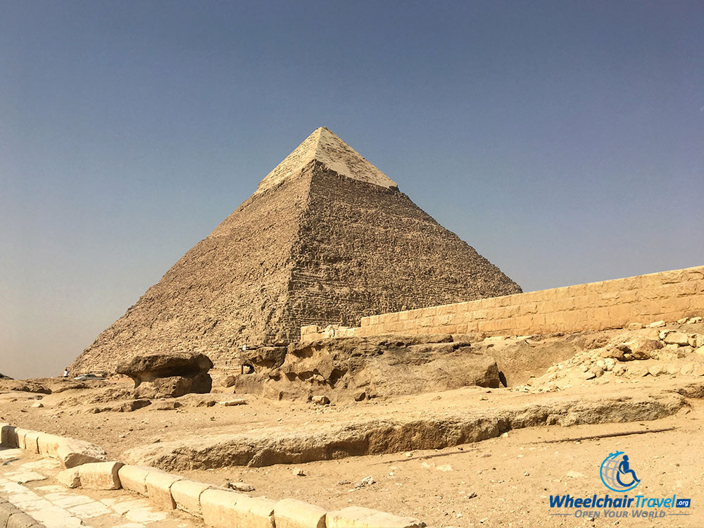The Pyramid of Khafre was constructed in 2570 BC.