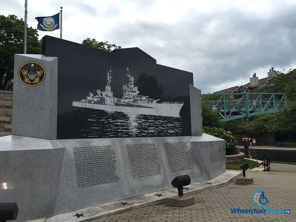 USS Indianapolis Memorial in Indianapolis, Indiana.