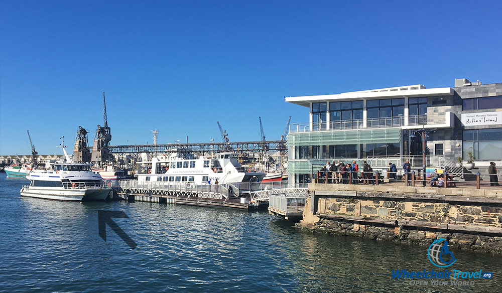 Sea Princes boat docked at the Robben Island Museum on the V&A Waterfront