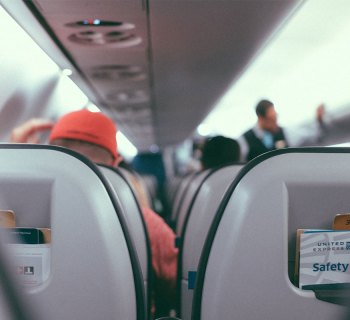 Interior of an airplane.