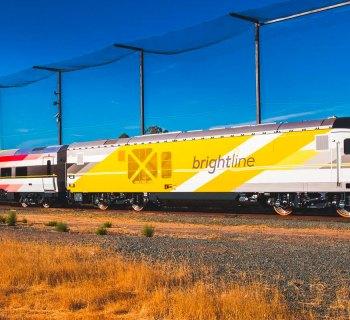 Brightline train service in South Florida.