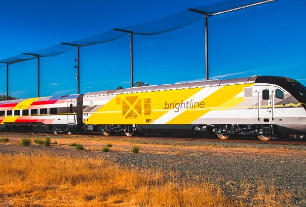 Brightline train service in South Florida.