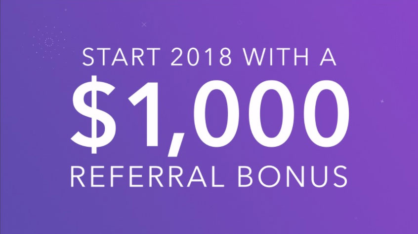 Earn a $1,000 bonus by referring 12 friends to Acorn.