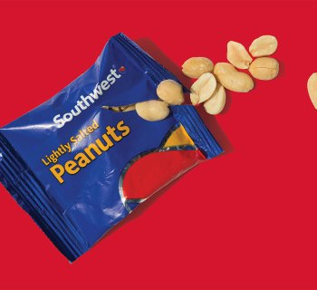 Package of Southwest Airlines peanuts.