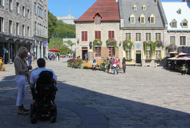 Old Quebec has been restored to its historical beauty.