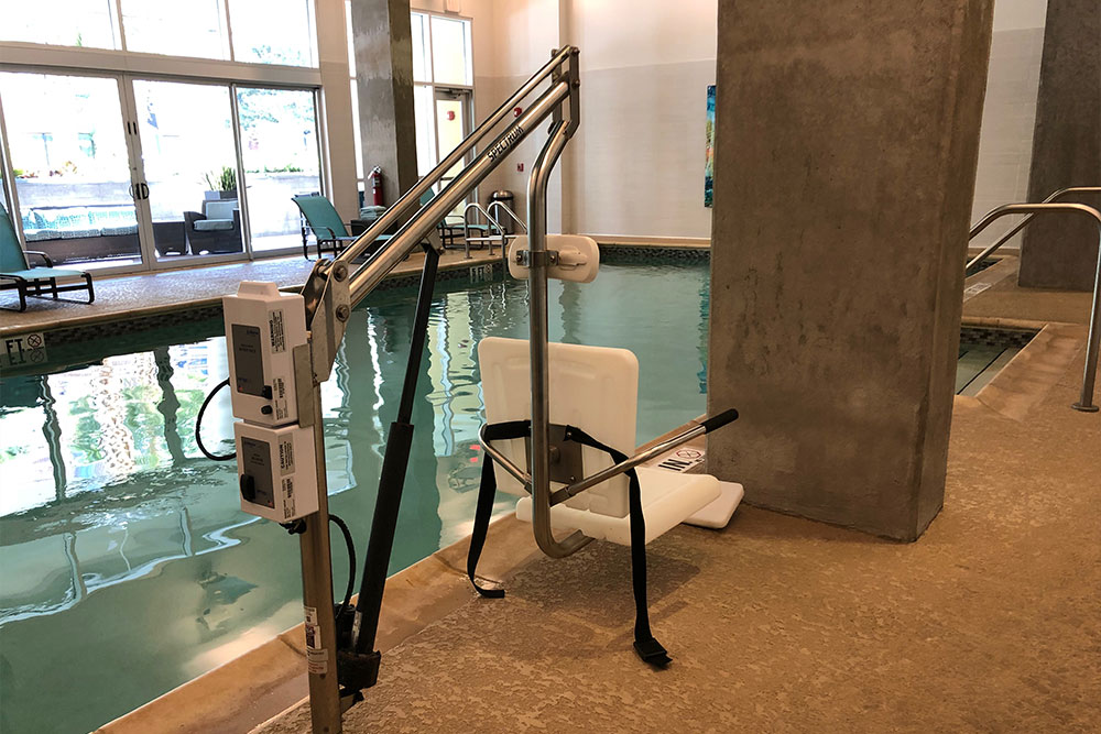 Ada hotel room at residence inn orlando downtown - Swimming pool wheelchair lift law ...