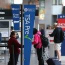 TSA PreCheck airport security lane.