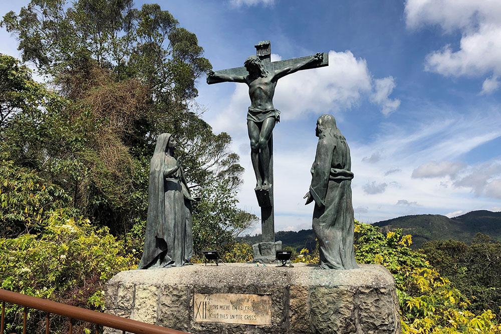 Station 12: Jesus dies on the cross.