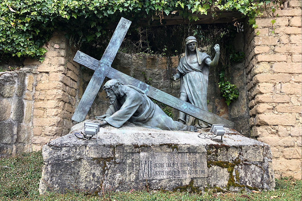Station 7: Jesus falls for the second time.