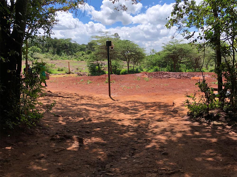 Elephant refuge viewing area.