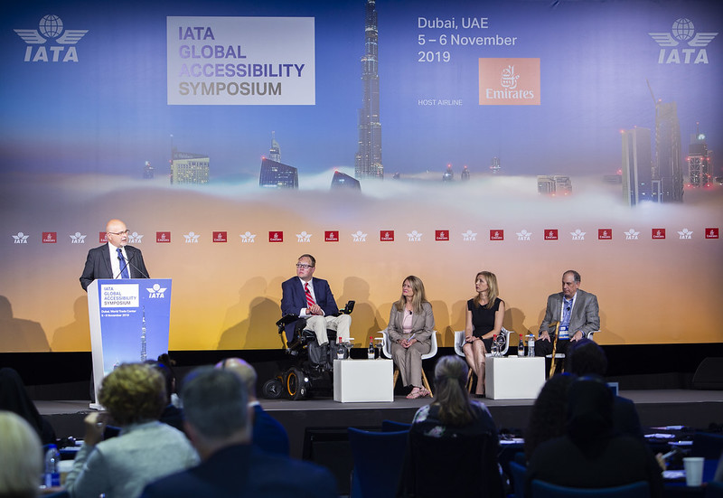 Reduced mobility panel at IATA Global Accessibility Symposium.