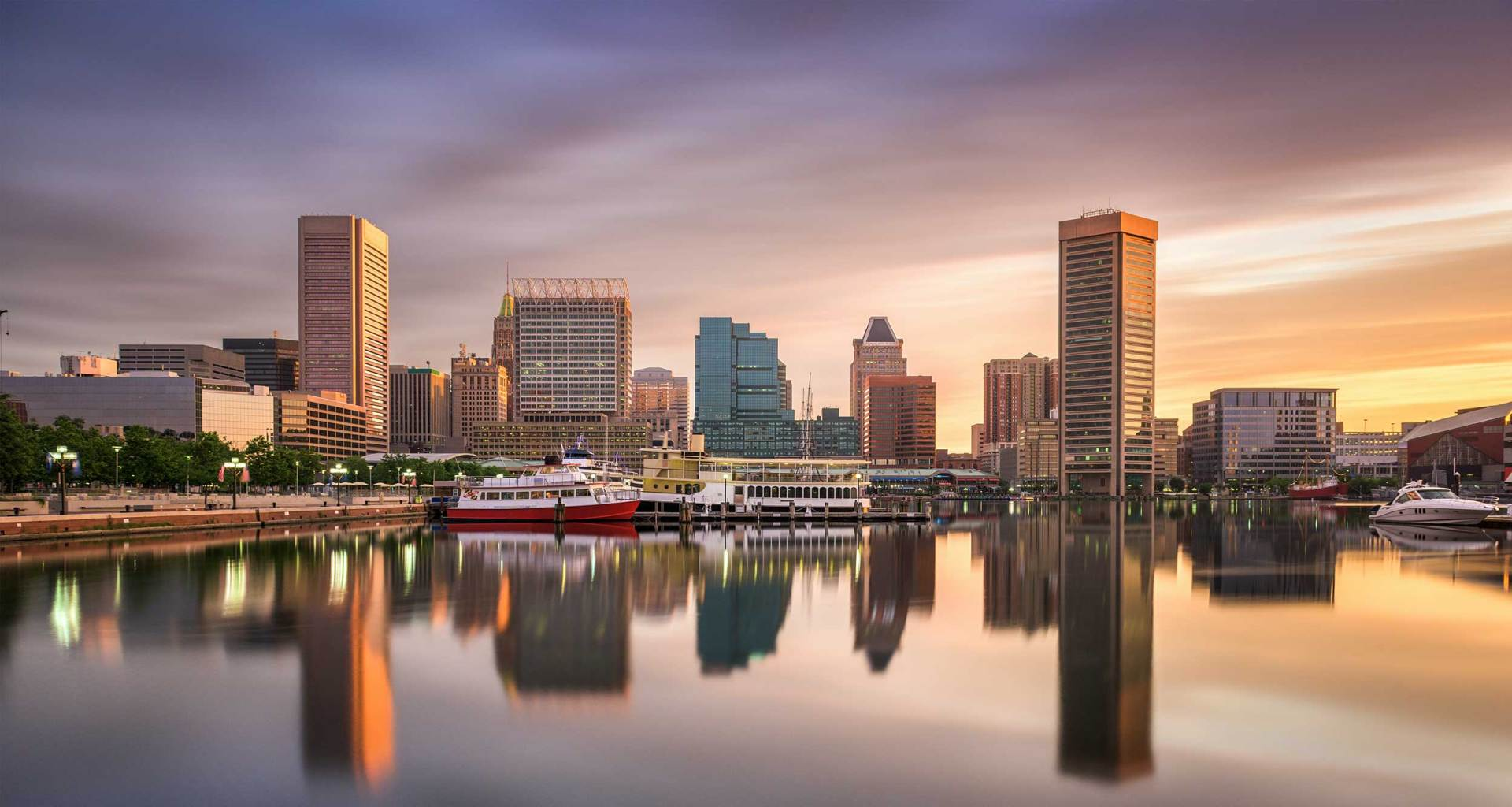 Baltimore, Maryland skyline.