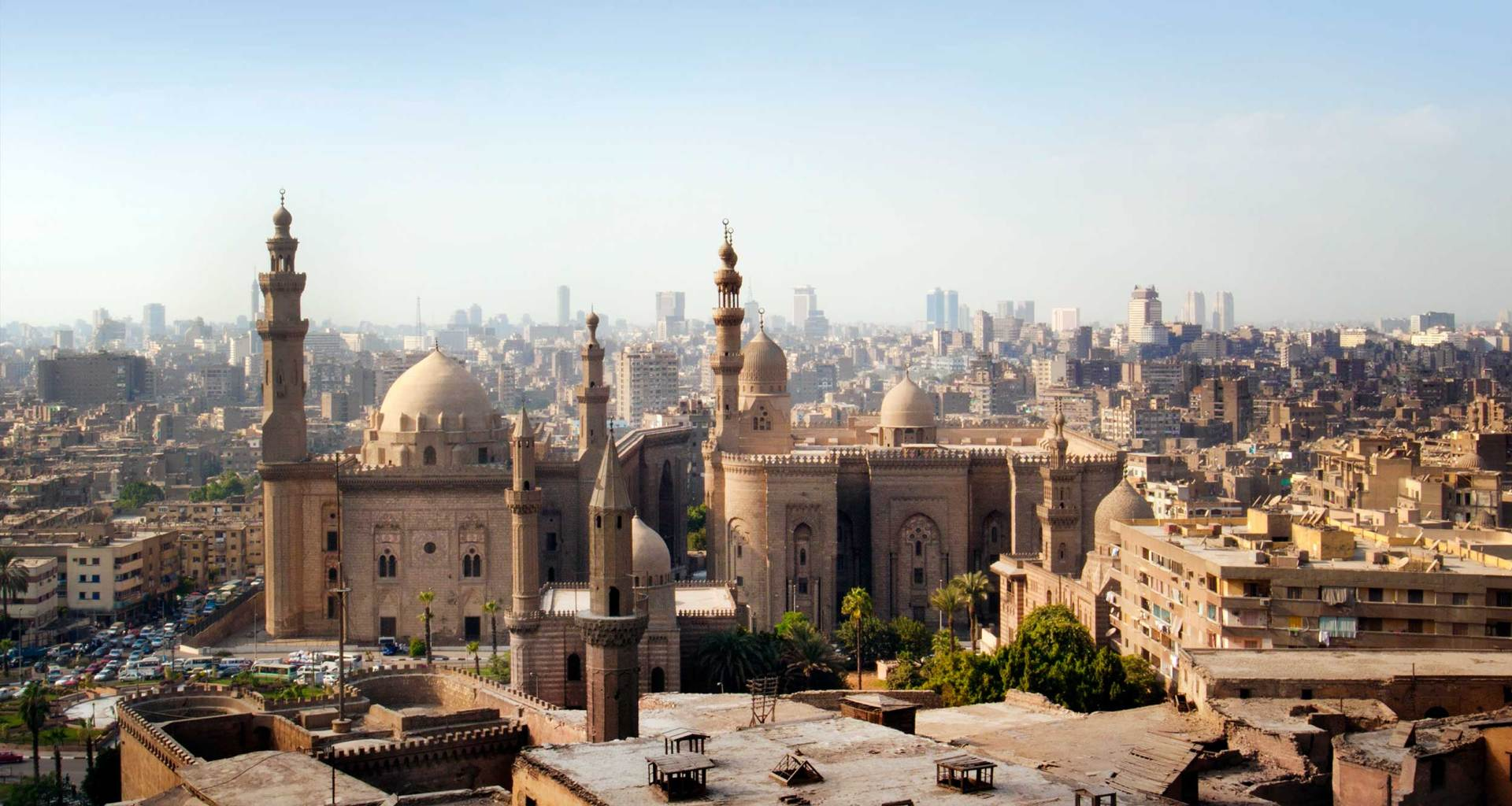 Cairo, Egypt skyline.