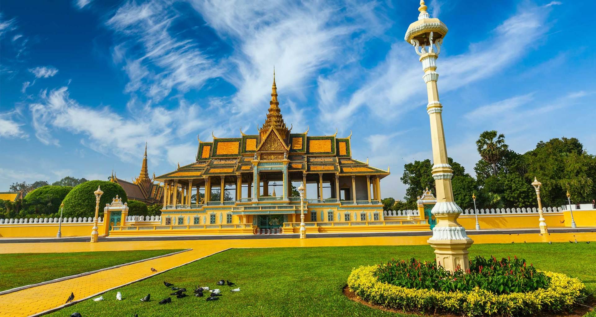 Phnom Penh, Cambodia skyline.