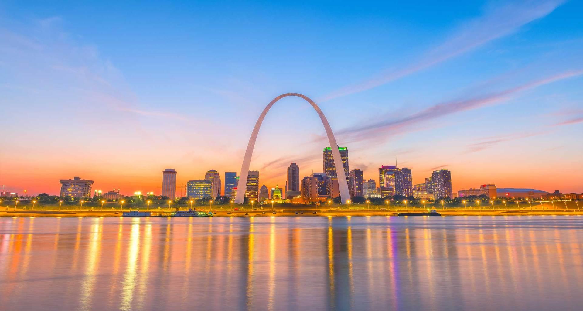 St. Louis, Missouri skyline.