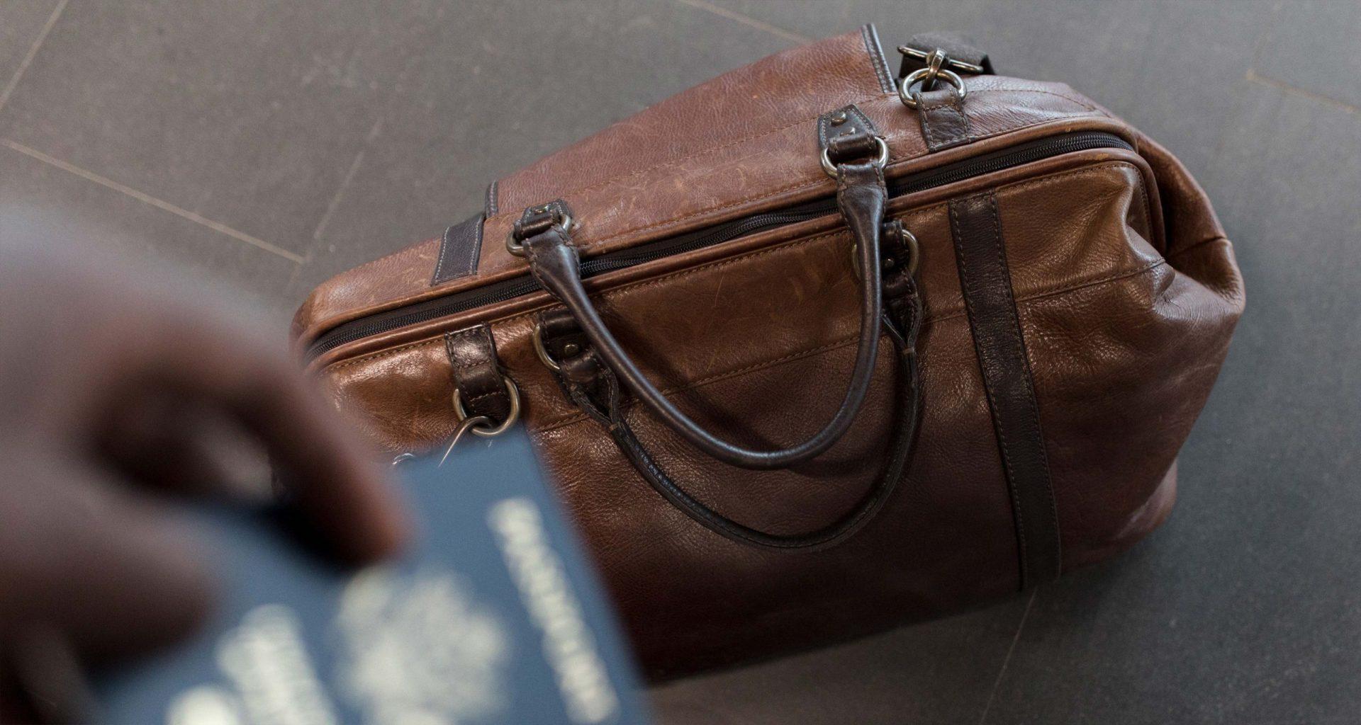 Travel luggage bag.