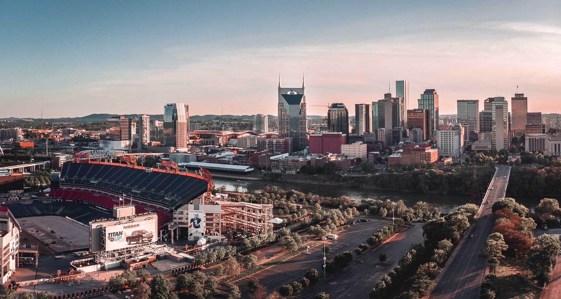 Nashville city skyline.