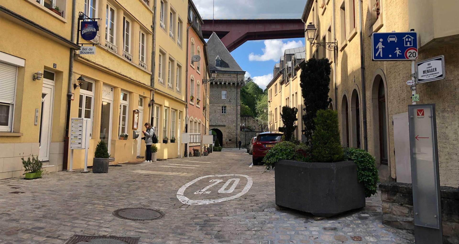 Wheelchair accessibility of sidewalks in Luxembourg City.