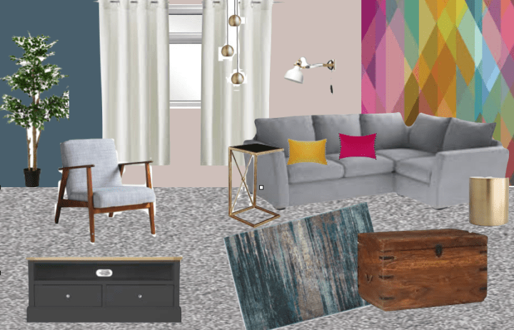 Going for Colour – Living Room Moodboard