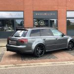 Audi Rs4 B7 Avant Grey With Z Performance Zp 09 Aftermarket Wheels Wheel Front