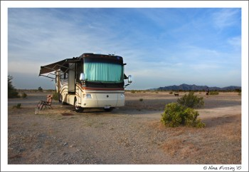 Boondocking on Quartzite BLM land, AZ
