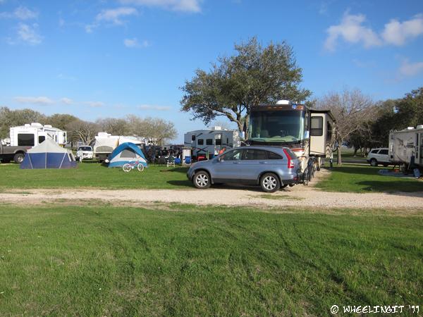 CP Campground Review - Brackenridge Park, Edna, TX ...