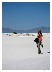 White sands to infinity