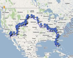 Our 2010 Travel Map