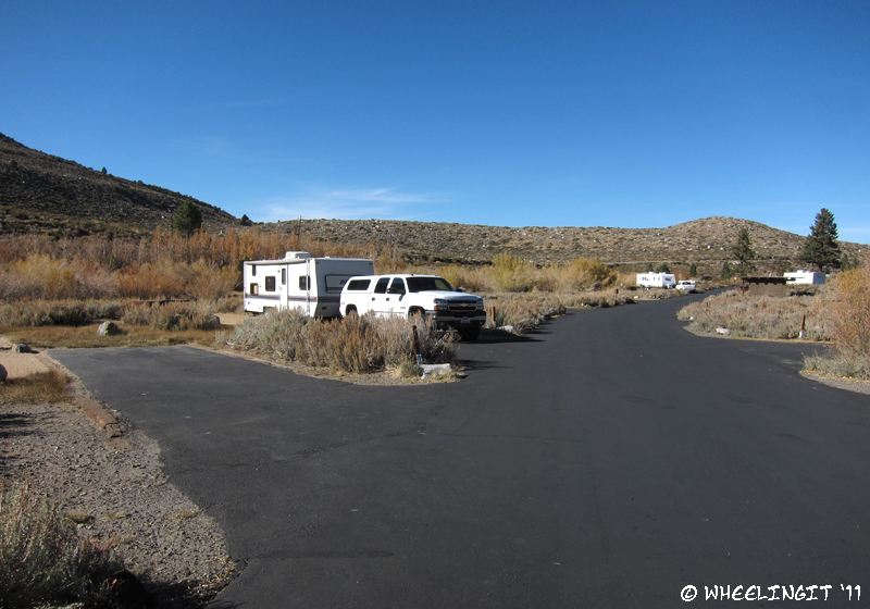 View towards back of the campground.