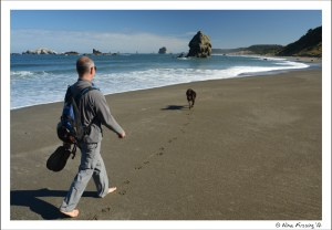 Hiking north beach at Cape Blanco..all alone too!