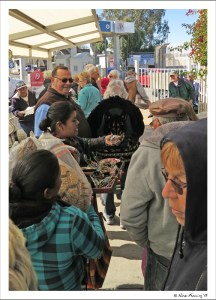 Waiting in the line to re-enter the US from Los Algodones