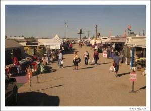Vendors aisles outside the big tent