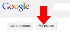 """Once you're signed in click on """"My Places"""""""
