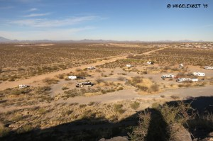 """Arial"" view of BLM area from the top of Snyder Hill. Can you see our rig?"