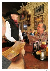 Paul and Tom talk to the local characters at Crystal Saloon