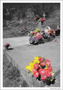 The graveyard at Harshaw