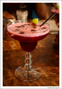 Hibiscus-infused margaritas...yum!!