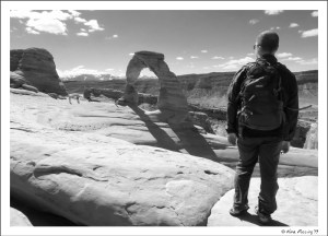 The view at Delicate Arch